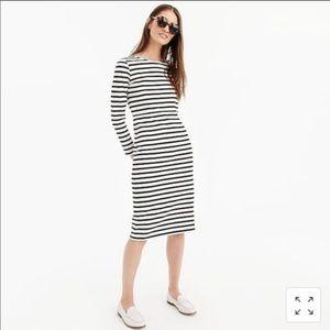 New J.Crew Long Sleeve Striped Shirt Dress